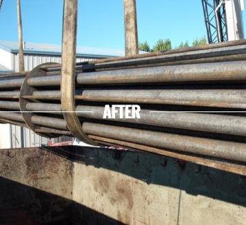 We clean heat exchangers from oil refineries.